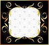 Векторный клипарт: Золотой цветочные кадра