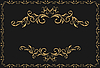 Vector clipart: luxury gold pattern with ornament borders
