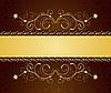 Векторный клипарт: золотая цветочная открытка