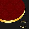Vector clipart: the black gold red invitation frame for elegant des