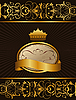 Vector clipart: Luxury background with crown