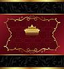 kunstvoller dekorativer Hintergrund mit Krone