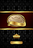 Vector clipart: background with golden luxury label and crown