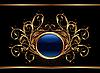 Vector clipart: golden ornate design