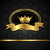 Vector clipart: royal background with golden frame