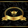 Royal background with golden frame | Stock Vector Graphics