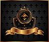 Vector clipart: royal golden frame for design