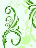 Векторный клипарт: весенний цветок гранж и листьев