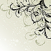 Vector clipart: Grunge floral background