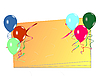 Vector clipart: Celebration card with balloons