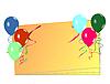 Векторный клипарт: Празднование карты с воздушными шарами