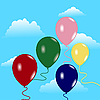 Vector clipart: Sky with balloons