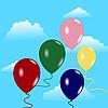 Векторный клипарт: Небо с воздушными шарами
