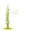 Векторный клипарт: лесозащитные листья бамбука