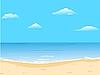Векторный клипарт: Красивый фон летом с пляжа