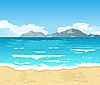 Vector clipart: beautiful summer background with beach