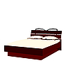 Vector clipart: of bed on white