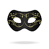of realistic carnival or theater mask