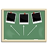 Vector clipart: school blackboard with marked photo frame