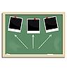 Векторный клипарт: Реалистичная доске школы с выраженным фоторамки