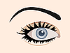 Vector clipart:  clous up eye