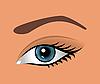 Векторный клипарт: крупным планом глаза