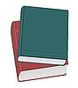 Векторный клипарт: Ralistic две книги