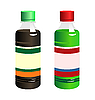 Vector clipart: set of two bottle with label