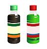 Векторный клипарт: набор из двух бутылка с этикеткой