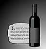 Vector clipart: the elite wine bottle with black blank label