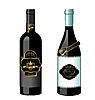 Vector clipart: set of wine bottles with label