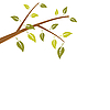 Vector clipart: Abstract branch tree is on white
