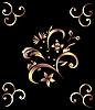 Vector clipart: Royal bronze pattern