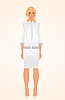 Vector clipart:  girl in white business suit