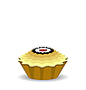 Vector clipart: the cute cupcake