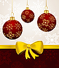 Vector clipart: background with Christmas balls