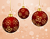 Vector clipart: Christmas background with balls