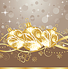 Vector clipart: background with Christmas balls and tinsel