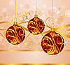 Vector clipart: design with Christmas balls