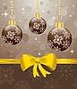 Векторный клипарт: новогодний фон с елочными шарами