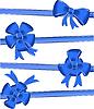 Векторный клипарт: синие банты