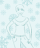 Vector clipart: winter girl portrait