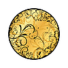 Vector clipart: gold floral medallion