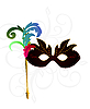 Vector clipart: carnival or theater mask