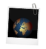 of our planet on photo frame background