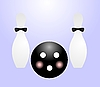 Vector clipart: ball and pin for bowling