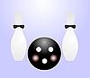 Векторный клипарт: мяч и пин-код для боулинга