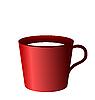Векторный клипарт: красные чашки на белом