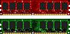 Векторный клипарт: Два модуля DDRII красный и зеленый