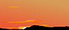 Vector clipart: Sunrise in mountains